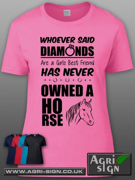 Womens Premium T Shirt - Whoever said Horses